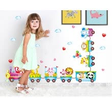 -Cartoon Animal Train Wall Decal Stickers Vinyl Art Baby Nursery Decor Room Mural on JD