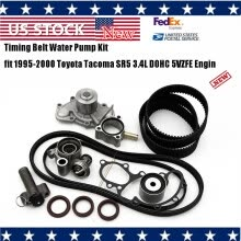 -〖Follure〗Timing Belt Kit Water Pump 3.4 V6 15 Pieces Fits For Toyota T100 Tacoma Tundra on JD