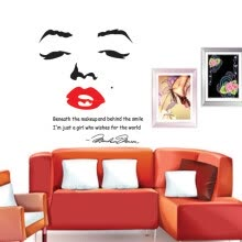 -Portrait of Marilyn Monroe DIY Wall Wallpaper Stickers Art Decor Mural Room Decal on JD