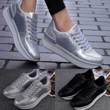 -Women's Autumn Fish Scales Casual Sports Fashion Large Size Muffin shoes on JD