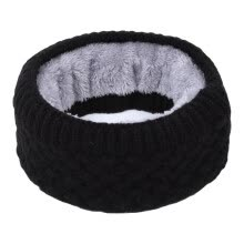 -Men Women Winter Neck Scarf Warm Wool Knit Plus Thick Velvet Collar Neck Warmer Scarves For Snowboard Skiing Skating on JD