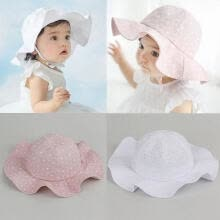 -Toddler Infant Baby Girl Hat Outdoor Bucket Hat Sunhat Summer Sun Beach Bonnet Beanie Cap on JD