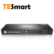 -TESmart 4K UHD 16 Ports HDMI KVM Switch Console Rack Mount Switch with 8 Pcs 5ft/1.5m KVM Cable,USB 2.0 Device 16 Port Input on JD