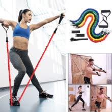 -11pcs / Set Natural Rubber Latex Fitness Resistance Bands Exercise Elastic Pul on JD