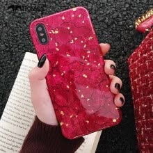 -TRONSNIC Glitter Phone Case for iPhone 7 8 Plus Green Purple Case Gold Foil Red Luxury Cover Fashion on JD