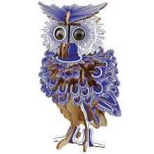 -3D Owl Wooden Puzzle Animals Simulation Model Jigsaw, Self Assembling Model Kits on JD