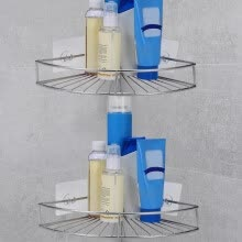 -Wall-mounted Stainless Steel Bathroom Shelf Storage Rack Shelf on JD