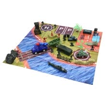 -Military Playset Includes  Game Pad And Battlefield Tools With Storage Containe on JD