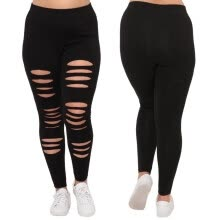 furniture-Fashion Plus Size Womens Sexy Leggings Trousers Yoga Sport Hole Casual Pants on JD