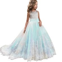 -Lace Girl Princess Bridesmaid Pageant Tutu Tulle Gown Party Wedding Dress on JD