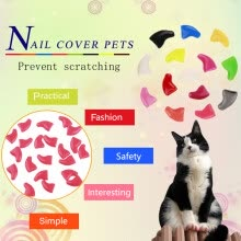 -20PCS Scratch Prevention Cat Nail Caps Pet Supplies Give 1 Bottle Glue 5ml on JD