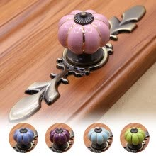 -Ceramic Pumpkin Design Handle Pull Knob for Cabinet Dresser Drawer Door Cupboard on JD