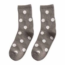 -Autumn Winter Stock Women New Fashion Cute Dot Pattern Socks Korean Style Classic Vintage Women Stocks on JD