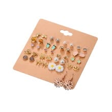-New 20 Pairs/Sets Trendy Mixed Stud Earrings Crystal Ear Studs Simulated Pearl Jewelry on JD