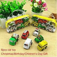 -Wheels Car 100% Original Basic Car Toy Mini Alloy Collectible Model Pull 6PCS on JD