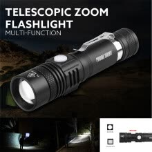 -Tactical Police 5000LM Zoom XM-L T6 LED 5Modes Flashlight Aluminum Torch on JD