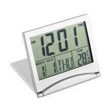 -Digital LCD Display Thermometer Calendar Alarm Clock Foldable Cover Desk Clock on JD