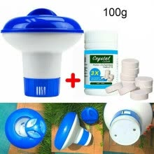 -100g Magic Pool Cleaning Effervescent Chlorine Tablets Cage Disonfectant Swimming Poo on JD