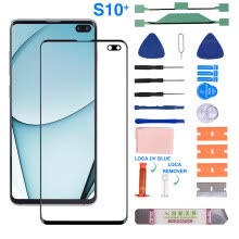-Compatible for Samsung GalaxyS10+ Front Glass Screen Lens Replacement Repair10ML on JD
