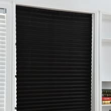 -Non-woven Shade Pleated Curtain Cordless Light Filtering Pleated Fabric Shade,easy To Cut And Install, With 4 Clips on JD