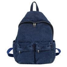 -MIARHB Female Vintage Shoulder Bag Denim Retro Port Wind Harajuku Student Travel Bag on JD