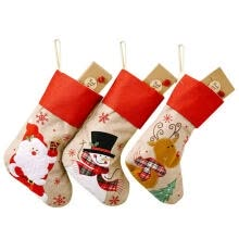 travel-accessories-Christmas Stocking, Snowflake Embroidery Gift Bags Christmas Decorations for Home Office on JD