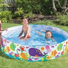 other-water-sports-72inches Children's swimming pool Blow Up Pool for Family Kids Backyard Foldable on JD