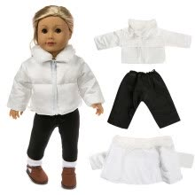 -Cute Clothes Down Jacket For 18 Inch American Boy Doll Accessory Girl Toy on JD