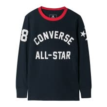 -Converse Boys Long Sleeve Pullover T-Shirt Children's Autumn Bottoming Shirt Top 8811 Rock Grey 150 (M) on JD