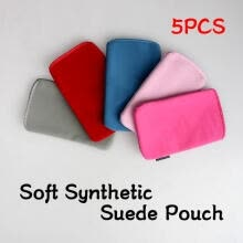 -5 Pcs Soft Synthetic Suede Pouch Pocket Case Holster For IPhone 3G 3GS Mobile on JD