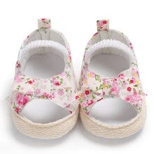 -2018 Summer Casual Baby Sandals Cotton Fabric Breathable Floral Print Kid First Walkers Hot Selling Child Shoes L1 on JD