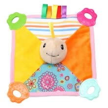 -Baby Infant Animal Soothe Appease Towel Soft Plush Comforting Toy Pacify Towel Grasping Rattles Soothing Baby Plush Toys on JD