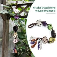 -Megawheels 6-color Natural Crystal Stone Hand-woven Ornaments for Window Garden Decoration on JD