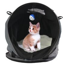 bags-luggage-travel-products-Cat House Multipurpose Collapsible 3 in 1 Cat Tunnel Cat Carrier with Ball Toy on JD