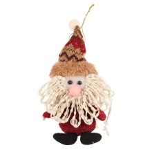 -1PC Xmas Tree Hang Dolls Lovely Santa Claus Snow Man Doll Christmas Decorations Gadgets Ornaments Dolls Kid Gift Christmas Decor on JD