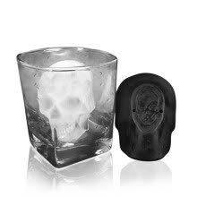 -3D Big Skull Ice Tray Mold Bar Party Wine Ice C ube Maker Mold Ice Tray Tool on JD