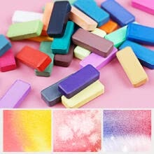 -48 Colors Solid Watercolors Paints Set Pigment Drawing Painting with Water Brush Paintbrush Pencil Sponge Watercolor Paper for Art on JD