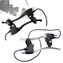 -Scooter Vehicle Grip Front Rear Clutch Brake Levers Quick Release Aluminum Alloy on JD