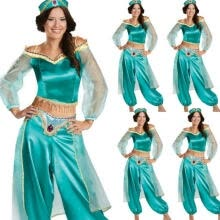 -Indian Aladdin Jasmine Princess Cosplay Women Girl Fancy Dress Up Party Costume Sets (No Hat) on JD