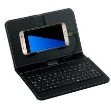 -General Wired Keyboard Flip Holster Case For Andriod Mobile Phone 4.2''-6.8'' BK on JD