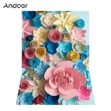 -Andoer 1.5 * 2.1m/5 * 7ft Blossoming Paper Flower Photography Background Wedding Backdrop Photo Studio Pros on JD