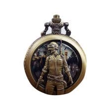 -Men Soldiers Vintage Rose Hollow out Carve Round Shaped Pocket Watch Women Watch Quartz Steampunk Necklace Watch on JD