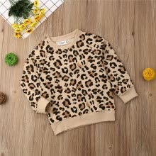 -Fashion Kid Baby Girl Boy Leopard T-shirt Bebe boys girls Casual Top Toddler Sweatshirts Tee t shirts Clothes 1-7Y on JD