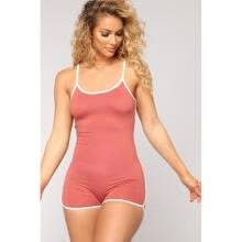 jumpsuits-playsuits-bodysuits-Casual Women Spaghetti Strap Bodycon Short Jumpsuit Low Cut Sport Romper Catsuit on JD