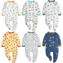 -Newborn Infant Baby Boys Girls Print Cartoon Cute Keep Warm Romper Jumpsuit on JD