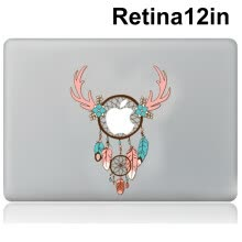 -Laptop Stickers Vinyl Decal Skin for Apple MacBook Retina12 Inch Personalized Colorful Partial Stickers style 2 on JD