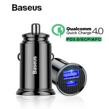 -Baseus 30W Quick Charge 4.0 Car Charger For iPhone Samsung AFC Huawei SCP FCP USB Type C PD 3.0 Fast Charging Car Phone Charger on JD