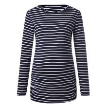 -Women Maternity Stripe Shirt Long Sleeve Basic Top T Shirt For Pregnant Clothes on JD