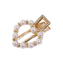 -Cute Women Fashion Headwear Pearl Hairpin Hair Clip Snap Barrette Stick Hair Accessories Gold Silver on JD