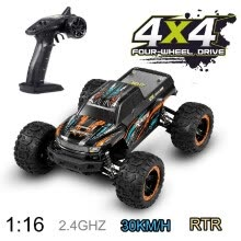 -Linxtech 16889 1/16 30km/h 4WD RC Car Big Foot 2.4G High Speed Car Toy for Adult Kids Orange on JD